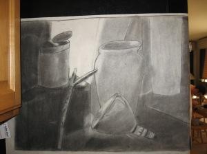 Charcoal Sketch: Leave the Crutch Behind